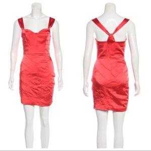 Vera Wang Lavender Label Coral Chevron Mini Dress